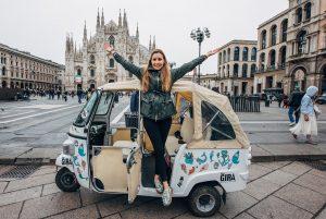 duomo Milano rickshaw